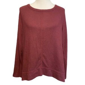 Medium Maroon Long Sleeve Soft Sweater Top